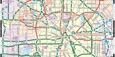 Dallas Hartă Hărți Dallas Texas Statele Unite Ale Americii